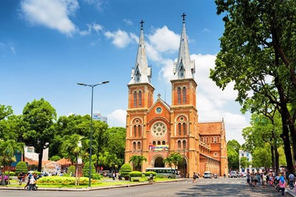 Notre Dame Cathedral in Ho CHi Minh - Ho Chi Minh Day Tour