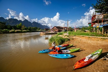 Kayaking in Nam Khan River - Luang Prabang Half day tour