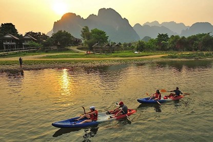 Luang prabang Kayaking - Laos Day Tour