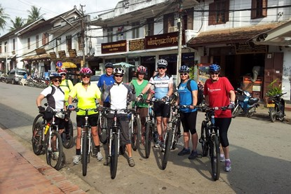 Biking on Luang Prabang