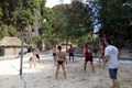 Play volleyball in freedom island