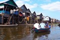 Sightseeing floating village