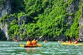 Kayaking in Ha Long